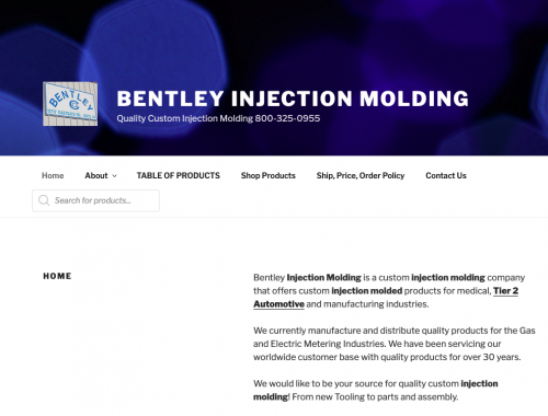 Bentley Injection Molding is a custom injection molding company that offers custom injection molded products for medical, Tier 2 Automotive and manufacturing industries.